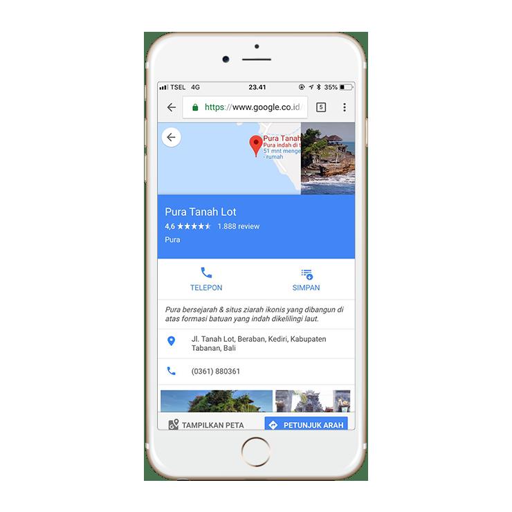Daftar Google Maps