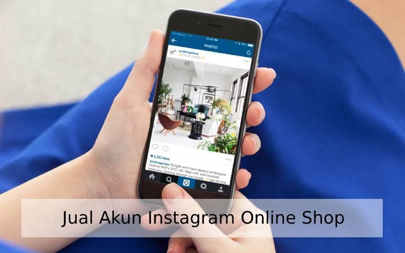 jual akun instagram online shop