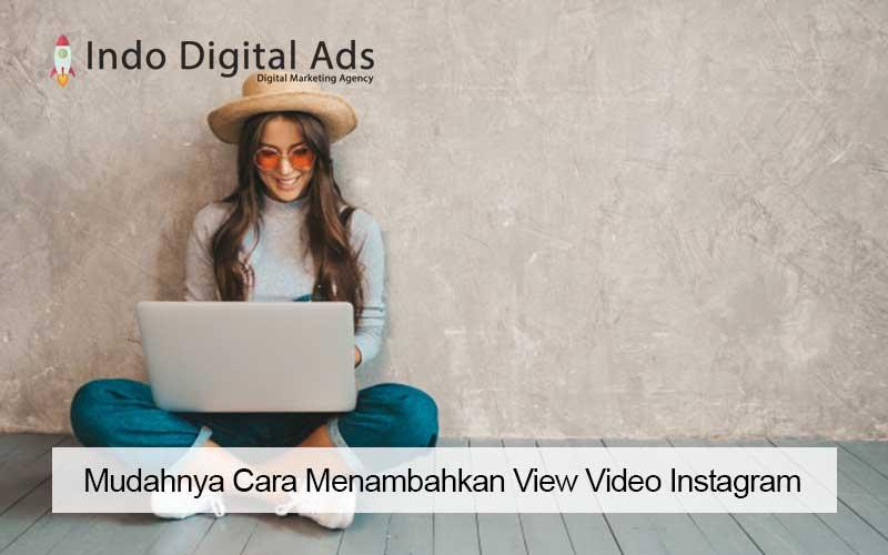 cara menambahkan view video instagram
